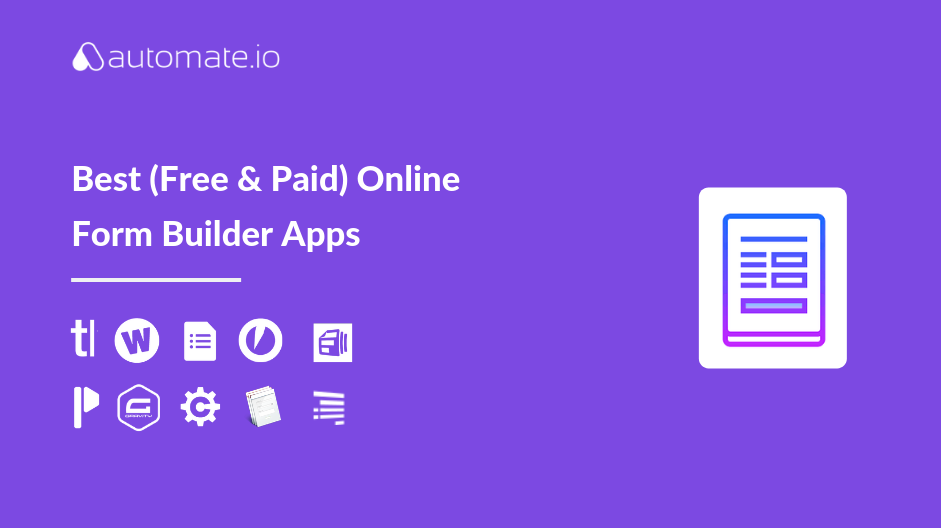 Best Online Form Builder Apps of 2019