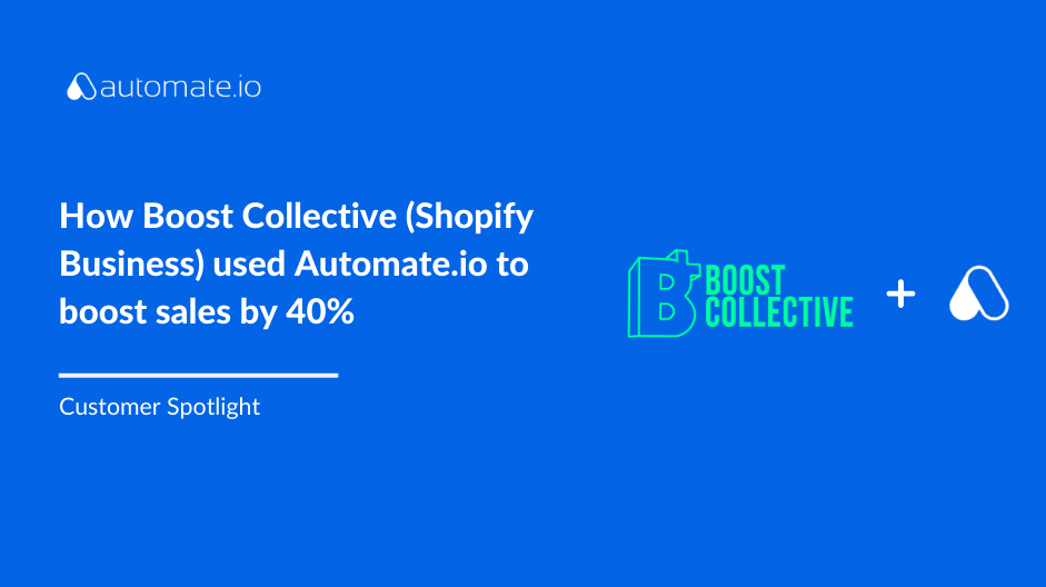 How Boost Collective (Shopify Business) used Automate.io to boost sales by 40%