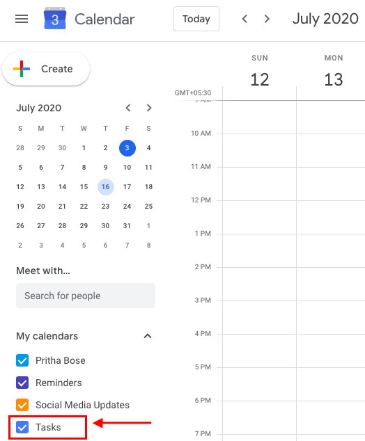 add tasks to google calendar