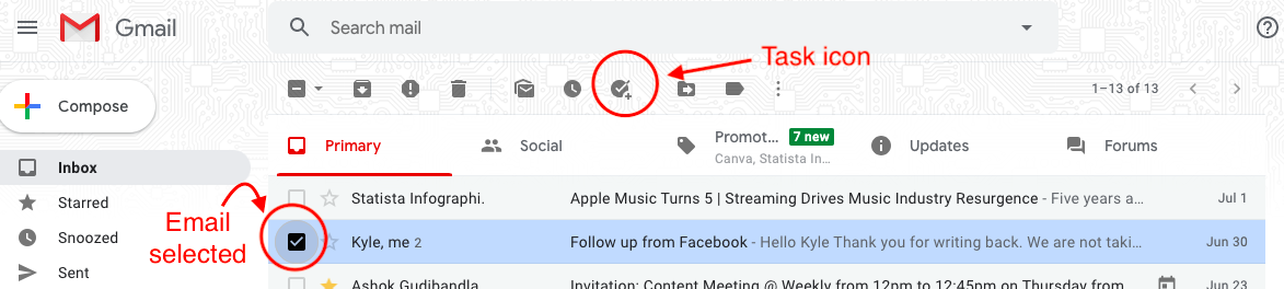 add to-do list in gmail