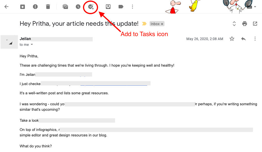 add to tasks icon- google tasks