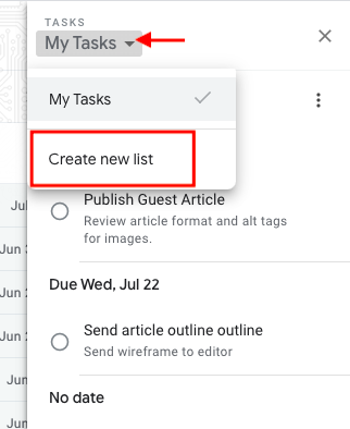 multiple google task lists