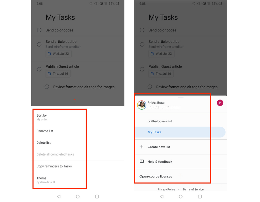 google tasks mobile app