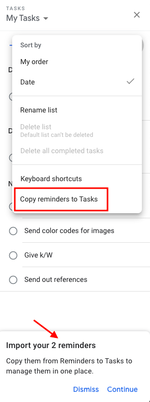 add reminders to google tasks