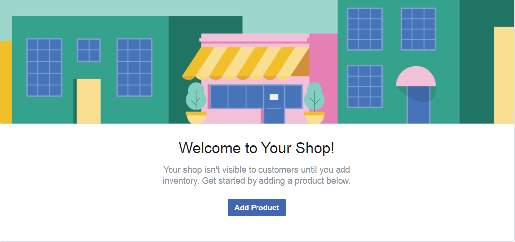 Facebook Store Welcome Page