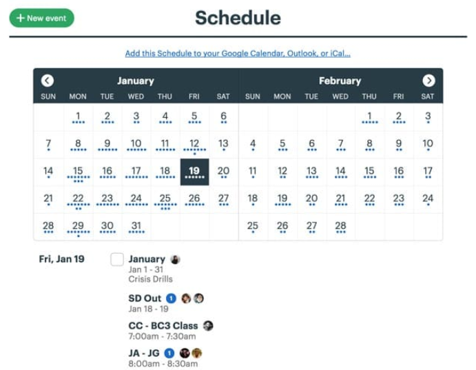 Basecamp - Schedule Dashboard