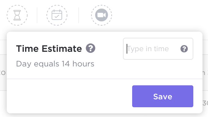 ClickUp Time Estimates feature