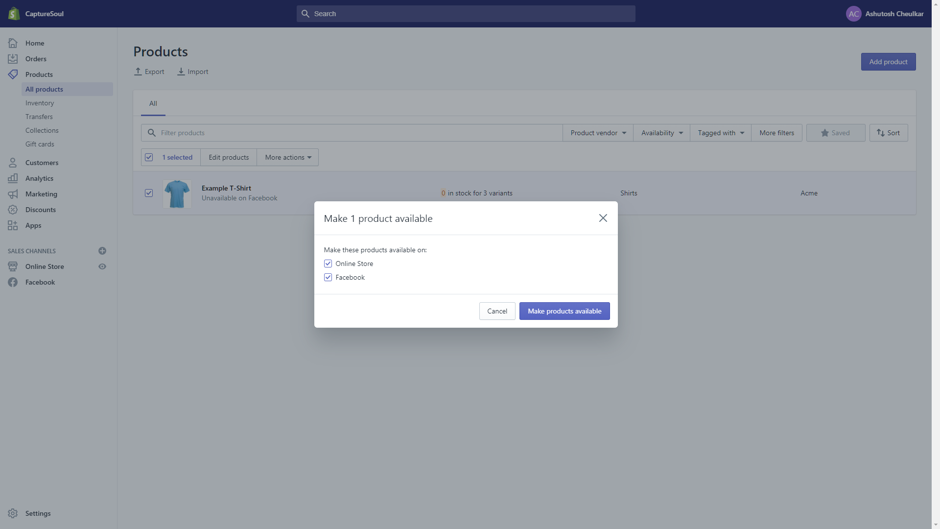 Add Shopify Products to Facebook Store