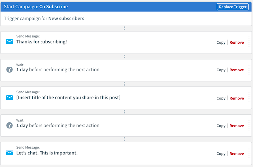 email automated campaign flow
