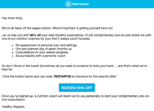 Email Automation Campaign - reengagement email