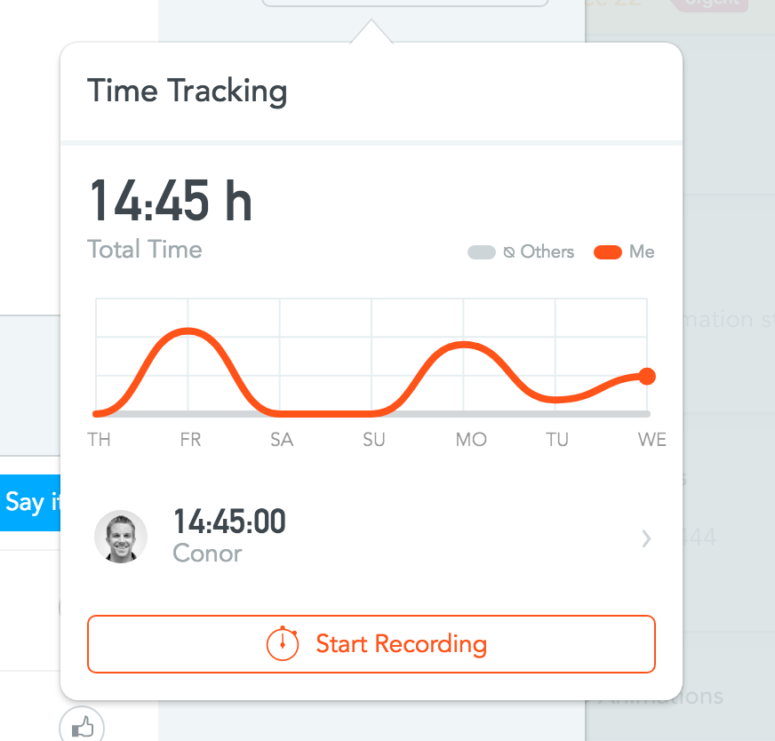 Meistertask time tracking